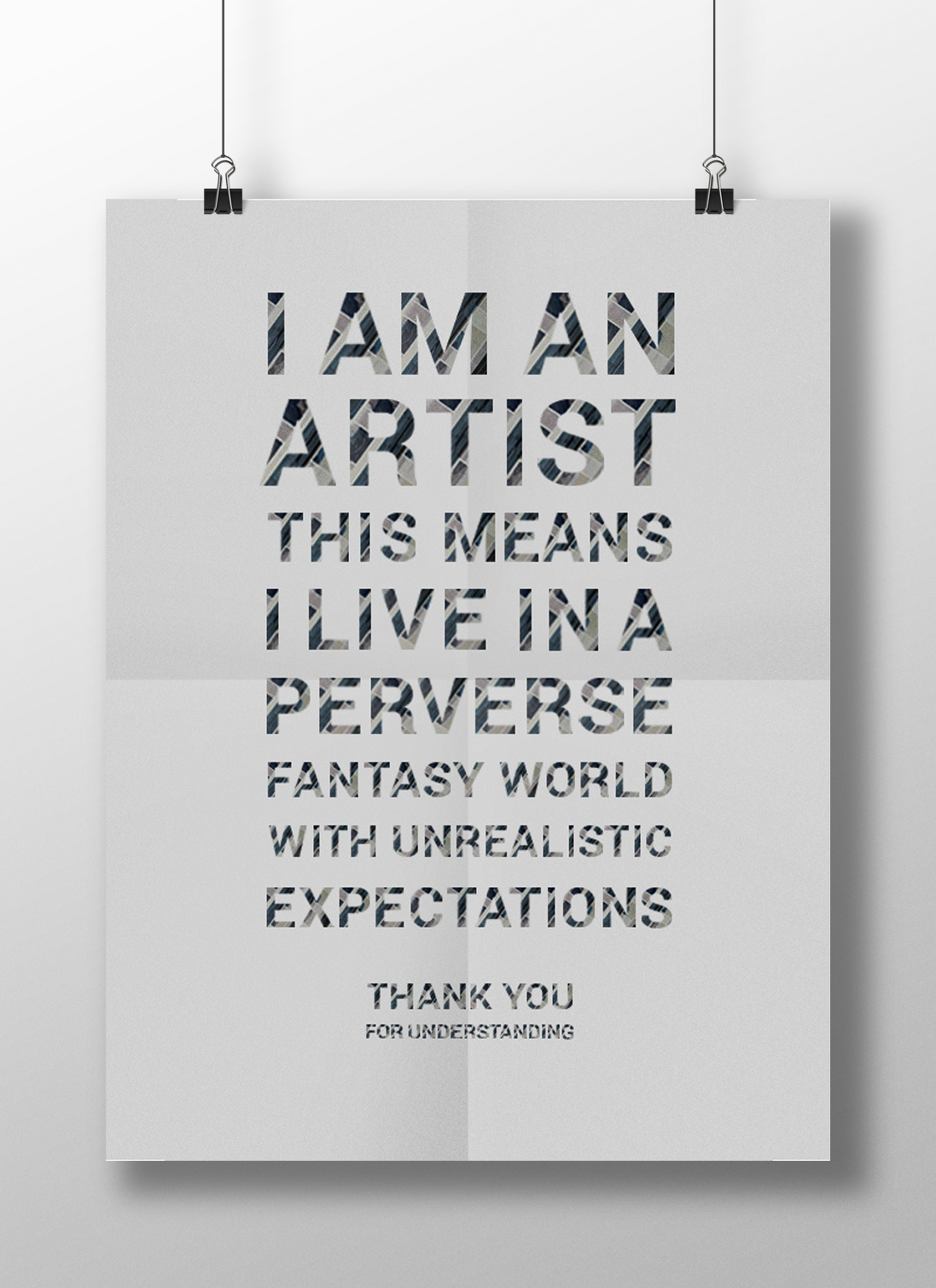 reflections typeface and poster