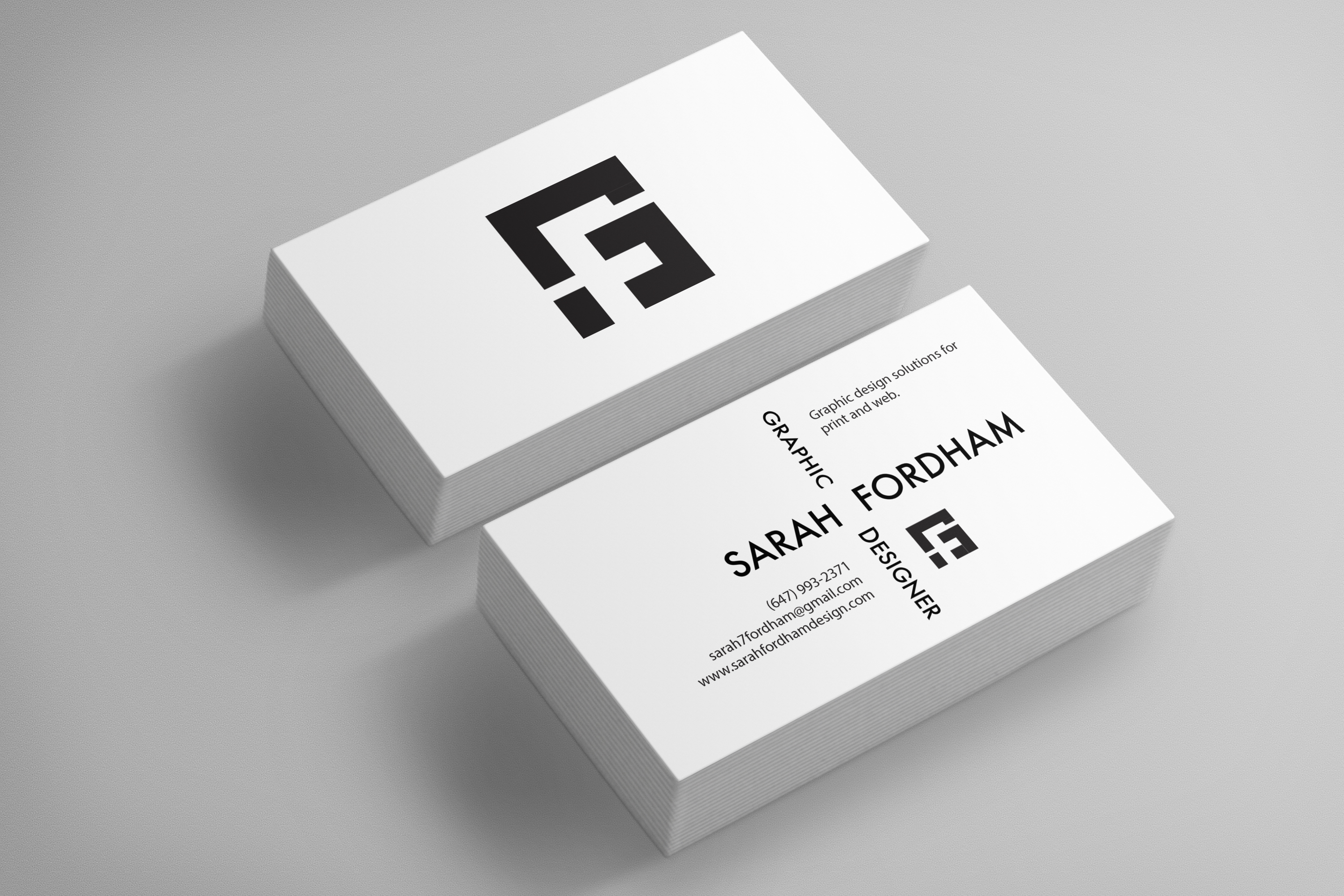 Personal branding sarah fordham sf business cards front digital colourmoves